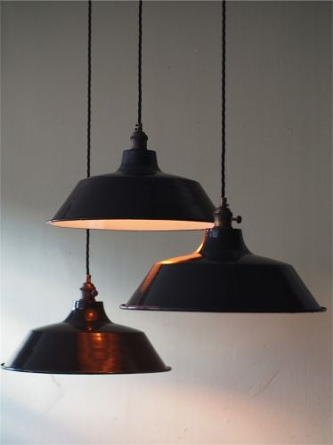 Industrial Lamp Lampshade Suspension Vintage Style Metal Ecosource