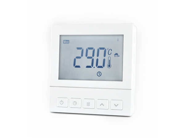 Thermostats à contrôle. Programmable single control thermostat wired.