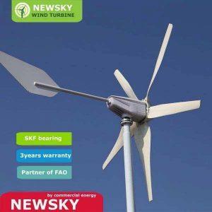 Wind turbine 6KW, solar-wind hybrid system, off-grid  - Ecosource